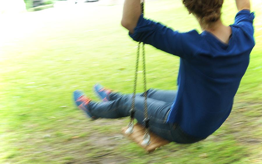 #Schaukelsitz aus Eichenholz #wetterfest #geölt für #Kinder und #Erwachsene